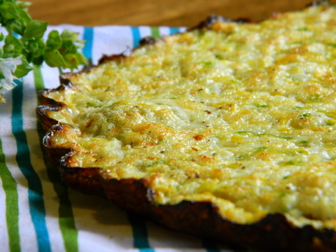 Summer Squash Quiche Tart