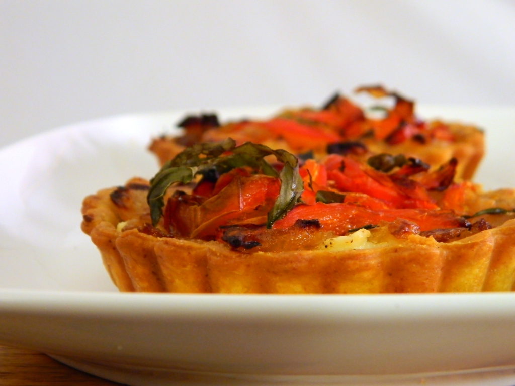 Red Pepper and Caramelized Onion Tartlets