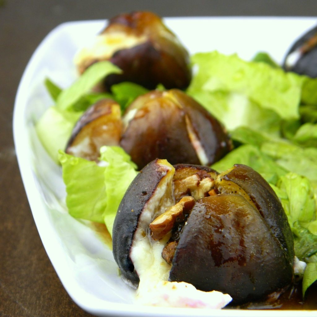 Chevre Stuffed Black Mission Figs